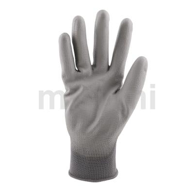 灰色PU掌面涂层手套