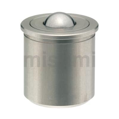 滚轮 带柱塞功能球头钢珠滚轮/压入/外螺纹型