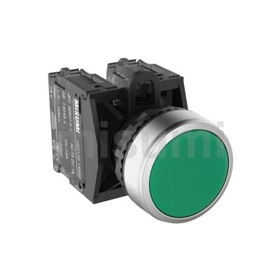 HMP高寿命 高防护系列 <br>φ22金属前环圆平型按钮(无LED)