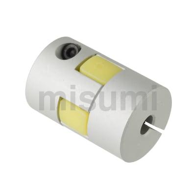 联轴器 梅花形夹紧螺丝固定型 JAAC 缓冲部材料为盲孔 (对应LK8-C)